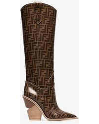 Fendi - Pointed Toe Cowboy Boots - Lyst