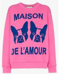 Gucci - Maison De L'amour Sweatshirt With Bosco And Orso - Lyst