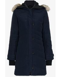 Canada Goose - Lorette Feather Down Cotton Blend Hooded Parka - Lyst