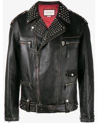 Gucci - King Charles Spaniel Biker Jacket - Lyst