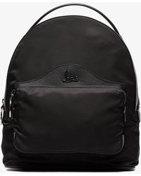Christian Louboutin - Black Backloubi Studded Backpack - Lyst