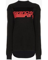 Givenchy - Paris Logo Print Sweatshirt - Lyst