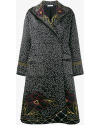 JW Anderson - Floral And Squiggle Embroidered Coat - Lyst
