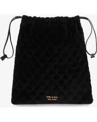Prada - Quilted Pouch - Lyst