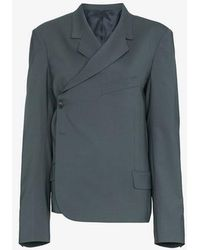 Martine Rose - Twisted Double Breasted Wool Blend Blazer - Lyst
