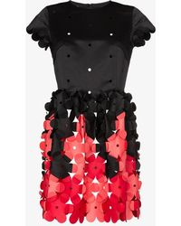 09e8bd8c65e3 Paskal 3d Petal Effect Dress in Black - Lyst