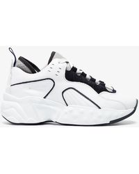 Acne Studios - White Manhattan Leather Trainers - Lyst