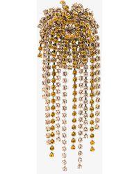 Dries Van Noten - Yellow Crystal Brooch - Lyst