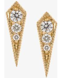 Diamoire Jewels Kite Halo Drop Earrings in 10kt White Gold ynZ0D8KQ