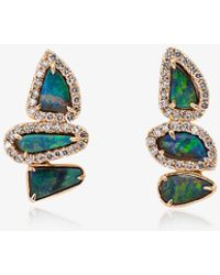 Kimberly Mcdonald - Blue And Gold Opal And Diamond Earrings - Lyst