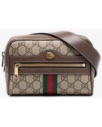 1e0f813f292e Gucci - Brown Ophidia GG Supreme Small Belt Bag - Lyst