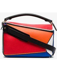 e85dc0f5e8db Loewe - Multicoloured Puzzle Patchwork Leather Shoulder Bag - Lyst