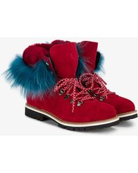Mr & Mrs Italy | Rabbit Fur Lined Boots | Lyst
