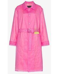 Martine Rose - Patch Embellished Belted Rain Coat - Lyst