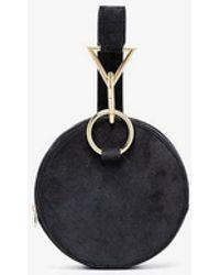 Tara Zadeh - Black Azar Suede Bracelet Bag - Lyst