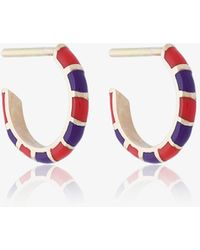 Alice Cicolini - 14k Striped Hoop Earrings - Lyst