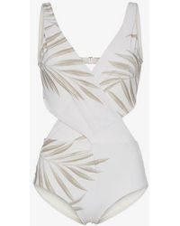 Johanna Ortiz - Grassland Open Back Printed Swimsuit - Lyst