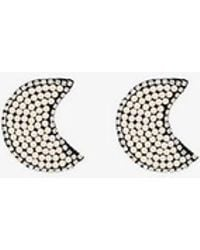 Venessa Arizaga - White Dancing In The Moonlight Crystal And Pearl Earrings - Lyst
