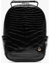 Stalvey - Black Backpack Mini Crocodile Leather Backpack - Lyst