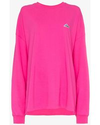 we11done - Well Done Patch Oversized Cotton Jersey Sweatshirt - Lyst