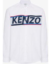 KENZO - Logo Knitted Shirt - Lyst