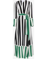 We Are Leone - Black And Green Striped Silk Jacket - Lyst