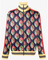 Gucci - Gg Wallpaper Technical Jersey Jacket - Lyst