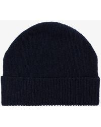 Thom Browne - Navy Wool Striped Beanie - Lyst