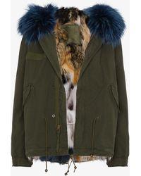 Mr & Mrs Italy - Mini Mmi Patchwork Fox Fur Lined Parka - Lyst