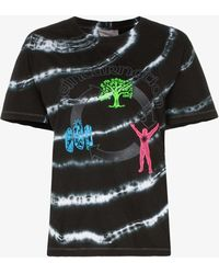 Ashley Williams - Graphic Print Tie-dye Cotton T-shirt - Lyst