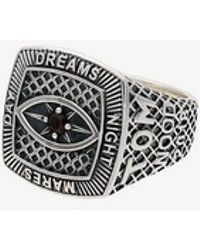Tom Wood - Sterling Silver And Garnet Champion Red Eye Ring - Lyst