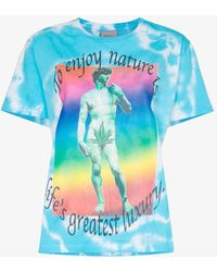 Ashley Williams - Tie-dye Graphic-print Cotton T-shirt - Lyst
