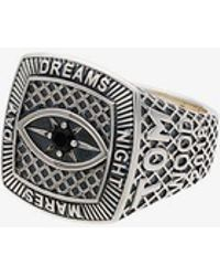 Tom Wood - Sterling Silver And Spinel Champion Black Eye Ring - Lyst