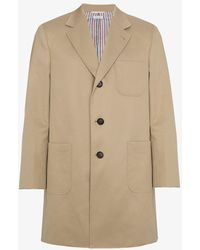 Thom Browne - Silk Single Breasted Two Button Overcoat - Lyst
