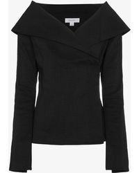 Beaufille - Off-shoulder Collar Jacket - Lyst