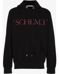 Johnlawrencesullivan - Scheme Print Hooded Sweatshirt - Lyst