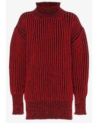 Balenciaga - Distressed Rib Jumper - Lyst