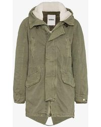 Yves Salomon - Shearling Lined Feather Down Parka - Lyst