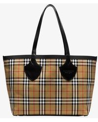 Burberry - Nude The Medium Giant Vintage Check Reversible Tote - Lyst