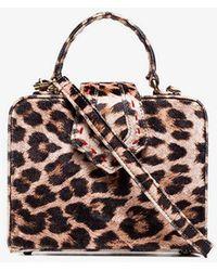 Mehry Mu - Beige And Brown Fey Mini Leopard Print Box Bag - Lyst