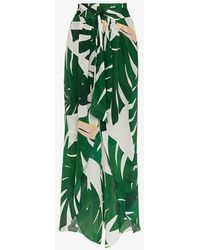 Adriana Degreas - Geometric Foliage Pareo Trousers - Lyst