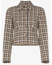 Beaufille - Haring Checked Cropped Jacket - Lyst