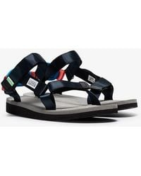 Suicoke - Navy And Grey Depa-v Sandals - Lyst