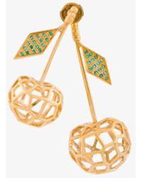 Natasha Zinko - 18kt Gold Cherries Earrings - Lyst