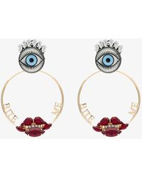 Anton Heunis - Metallic Gold Bite Me Swarovski Crystal Earrings - Lyst