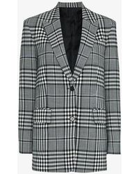 Juun.J - Check Wool-blend Blazer - Lyst