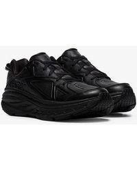 Hoka One One Black Bondi Low-top Leather Trainers