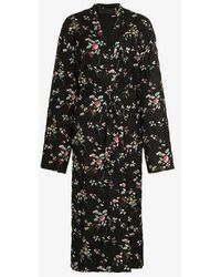 Haider Ackermann - Floral Belted Maxi Coat - Lyst