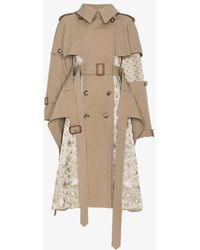 Alexander McQueen - Silk Floral Jacquard Patchwork Trench Coat - Lyst