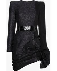 Ronald Van Der Kemp - Bow Hem Mini Dress - Lyst